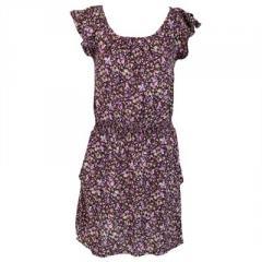 Robe fleurie coloris violet