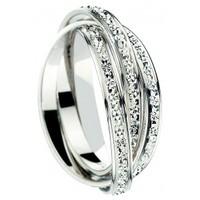 3 Anneaux diamantés