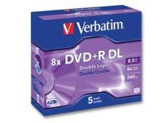 Pack de 5 DVD+R Double couche VERBATIM
