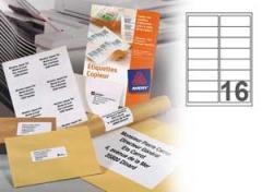 Boite de 200 Planches d'étiquettes copieurs L105 x H37 mm