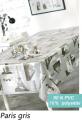 Cote table Toiles Cirees Paris Gris