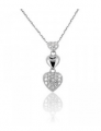 Collier or gris diamant 0,12ct