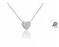Collier or gris diamant 0,045ct