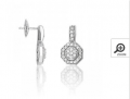 Boucles d'oreilles or gris diamant pavage 0.46ct