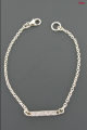 Bracelet chaîne Barrette Strass