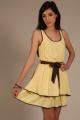 Robe à liseré - jaune - vêtement femme