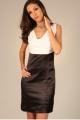Robe droite bicolore - blanc et noir - vêtement femme