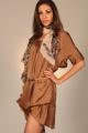 Robe tunique asymétrique - marron - vêtement femme