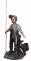 Sculpture et statue d'enfant en bronze