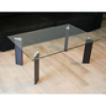 Petite table basse verre