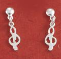 Boucles d'oreilles pendantes clef de sol M55