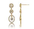 Boucles d'oreilles solitaires Asa, Pendants d'oreilles diamants en or jaune -Poids total 1,34 carat