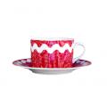 Paire tasse à thé Croquet