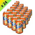 Canette fanta orange français 33 cl par pack de 24