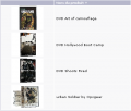 DVD Art of camouflage, Hollywood boot camp, Shoots fired, Urban Soldier by Opsgear