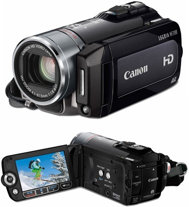 Commande Camescope Canon full hd à carte sdhc zoom optique 15x