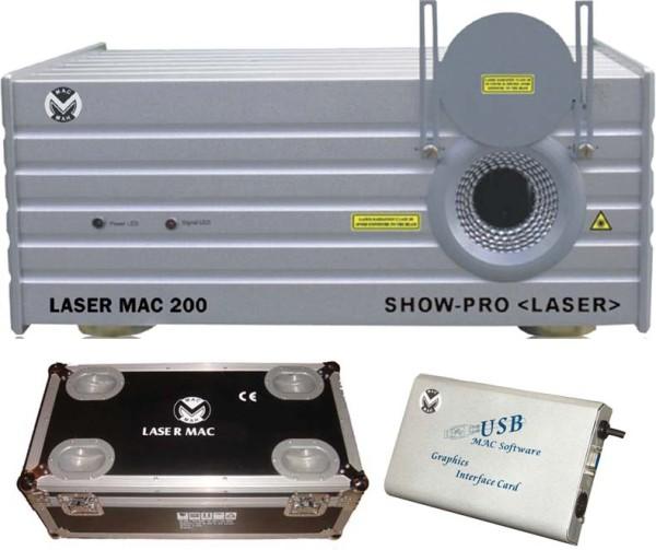 Commande Location laser Mac 200 vert 250mw