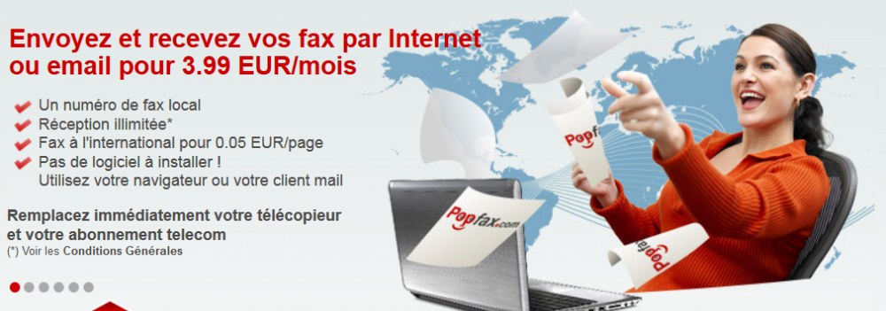 Commande Fax Internet - envoi et réception