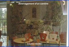 Fontaine - amenagement d'un cantine
