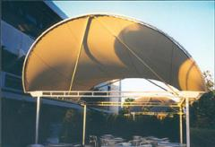 Construction de type metallo-textile