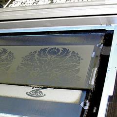 Impression textile à plat