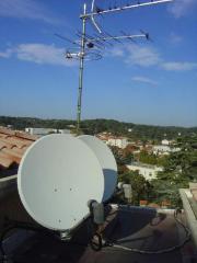 Pose d'antennes et de paraboles