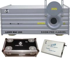 Location laser Mac 200 vert 250mw