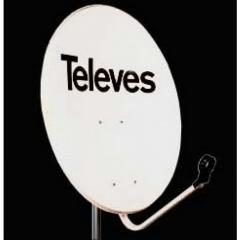 Pose d'antennes satellites